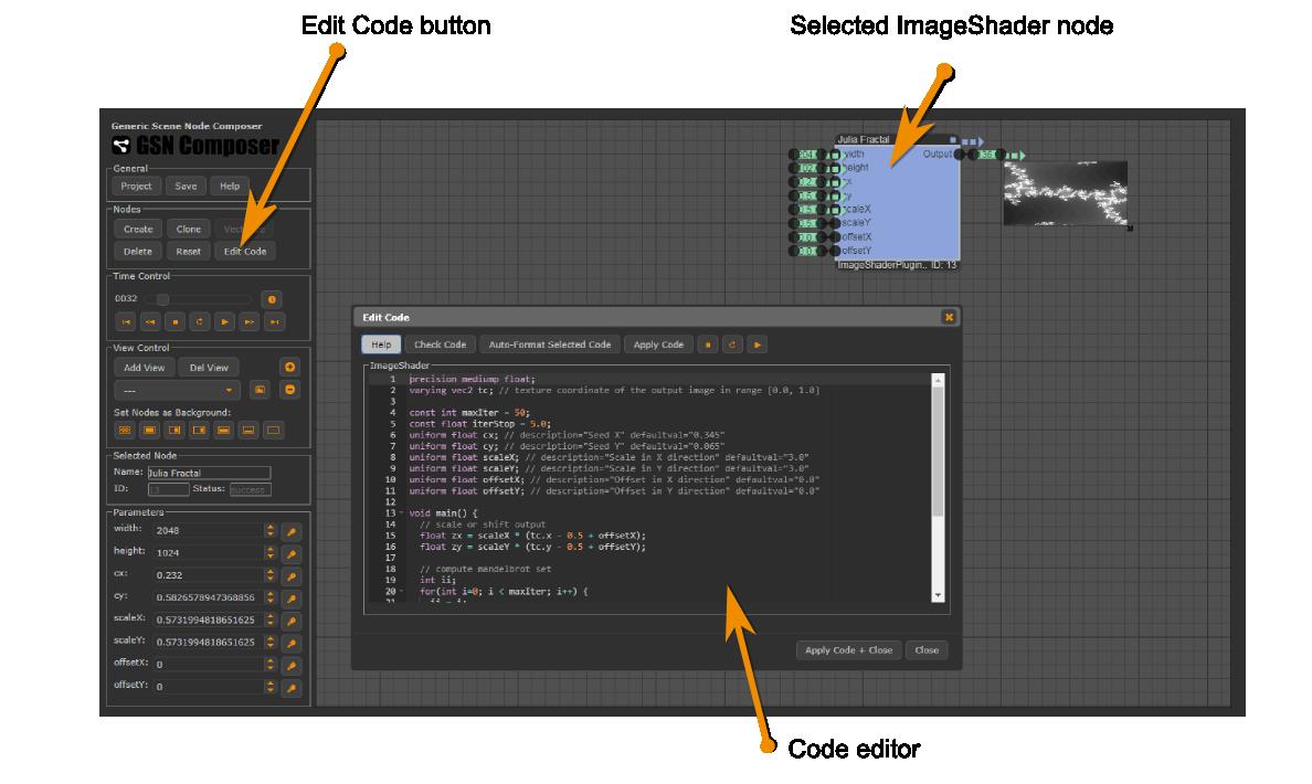 ImageShaderPluginNode | Online GLSL Image Shader Editor for Node